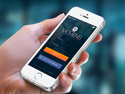 iOS 7 Login Screen iphone ios ios7 signin login user interface ui iphonedesign appdesign uidesign register