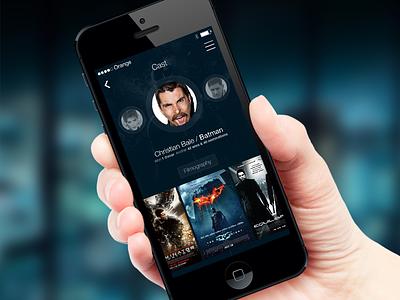 iOS7 Profile Screen ios7 ios iphone iphonedesign appdesign ui user interface profile gradient