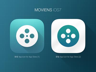 iOS7 Icon - Moviens ios ios7 iphone icon ui ux gradient webdesign photoshop movie