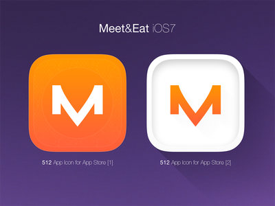 iOS7 Icon - Meet&Eat ux ui icon iphone ios7 ios photoshop webdesign gradient social facebook