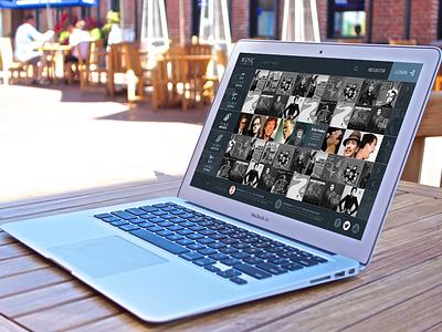 Music WebApp flat webdesign webapp uidesign ui ux music social slider dashboard