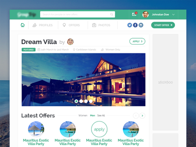 Travel WebApp dashboard social travel ux ui uidesign webapp webdesign flat profile booking vacation