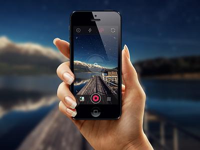 iOS 7 Photo Camera camera photo flash refresh uidesign appdesign iphonedesign ui user interface ios7 ios iphone