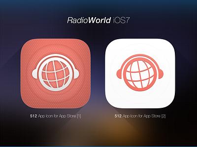 iOS7 Icon - RadioWorld radio gradient webdesign photoshop ios ios7 iphone icon ui ux