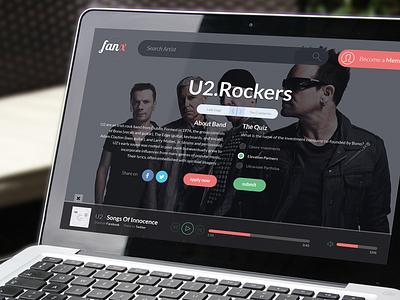 Music WebApp - FanX ui design user interface app interface music flat player webapp website