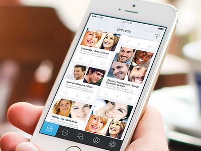 iOS - Social App ios ios7 ios8 iphone icon ui ux gradient webdesign photoshop pinterest profile