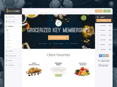 E-Commerce ‧ Groceries WebApp food user experience cart application web user interface e-commerce design ux ui