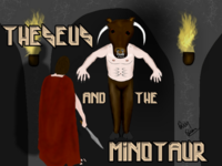 Theseus, The Minotaur in The Labyrinth