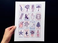 La Loteria Tabla risograph print
