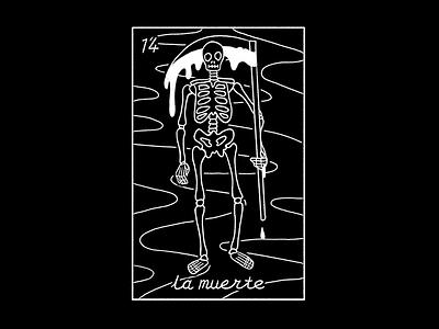 no.14 la muerte loteria skull death skeleton