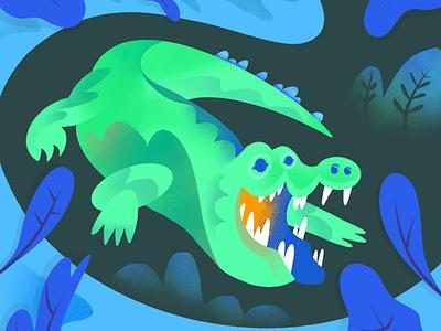 Crocodile crocodile childrens illustration childrens book character alphabet texture series procreate illustration color