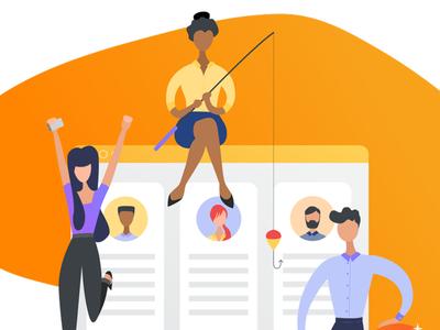 Jobs search illustration