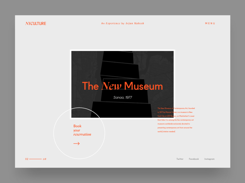 New Museum UI interface branding typography minimalism grid ui new museum nyc logo vector illustration ux