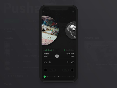 Spotify DJ Concept dj mixing design interaction player music streaming spotify invision studio animation visual experience interface ux ui