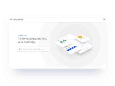 Google - Test My Site - Live Now! data analytics mobile speed design material cinema 4d c4d ux ui interaction interface animation onboarding experience user journey google interface