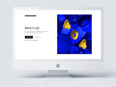 Kickstarter 404 Page - Live Now