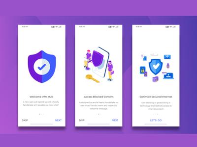 Splash Screen Concept For App UI