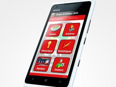 Menu Sport App Windows Phone 8.1
