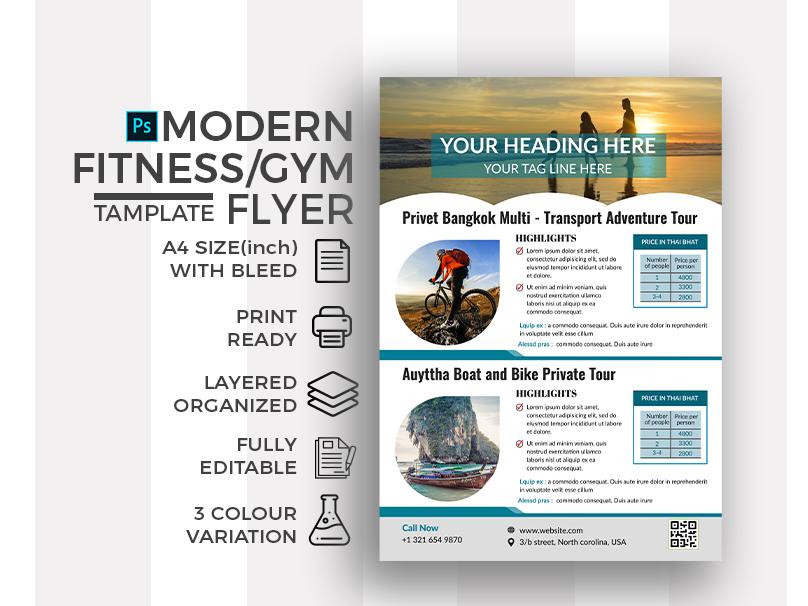 Tour and Travel Flyer hotel tourist tour guide advertisement travel tourism