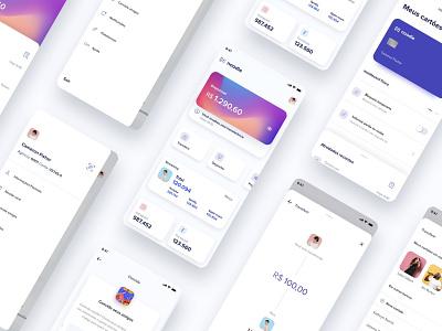 Noodle - UI card banking bank app straming fintech music design system bank