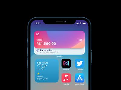 Noodle IOS Widget fintech home screen widget banking ios 14 widgets ui ios