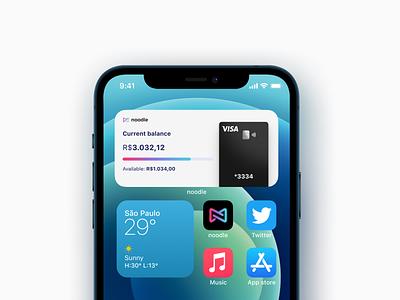 noodle credit card widget credit card ios widget iphone widget ios widgets widgets widget banking finance bank