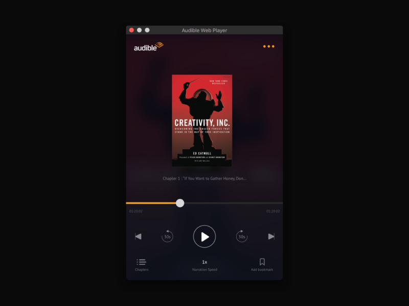 Audible Webplayer redesign by Matheus on Dribbble