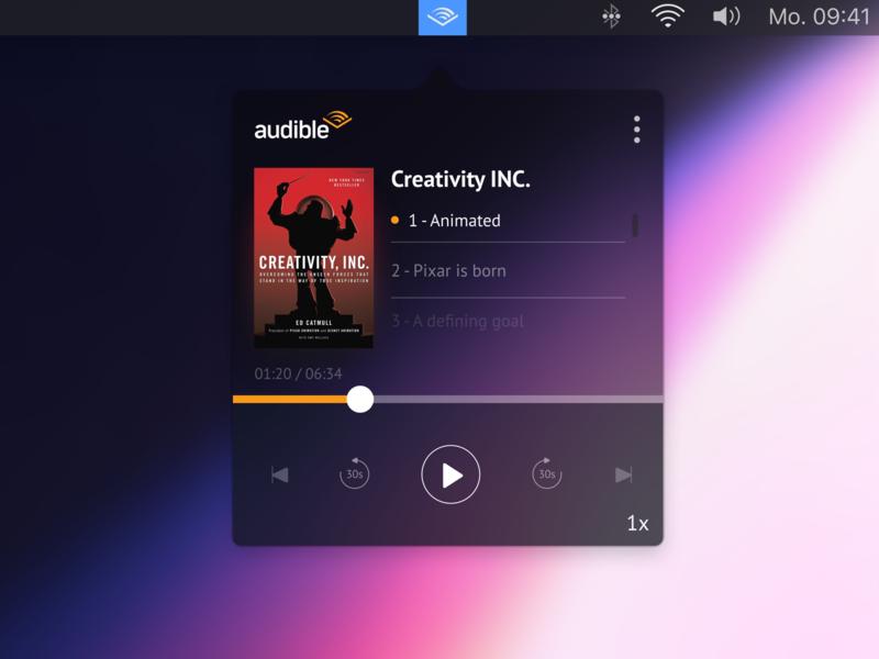 Audible Mac App Concept by Matheus on Dribbble