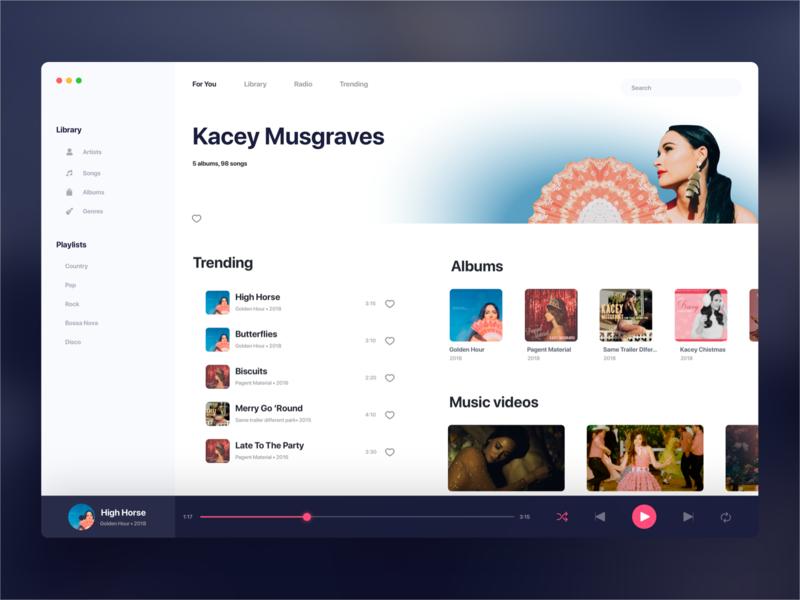 Music Player itunes singer albums ui player ui mac app music app player music