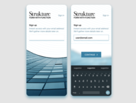 Initial Screens - Strukture first screens welcome screens mobile app mobile initial screens welcome onboarding
