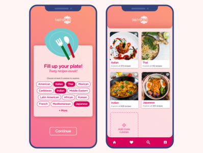 Initial Screens - TastyPlate mobile app mobile first screens initial screens welcome screens welcome onboarding