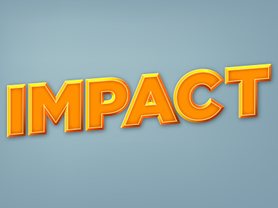 Impact text