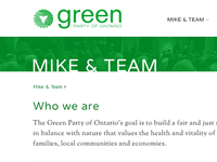 Green Party of Ontario - Breadcrumb Detail