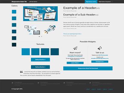 Responsive Style Tile web design web mockups