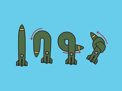 United Nations - Disarmament war missile instructions knot peace poster disarmament nations united