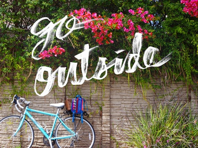 Go Outside lettering typography hand lettering design