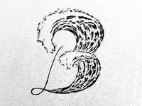 B Waves Dropcap