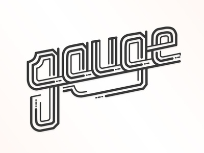 Gauge lettering illustration design