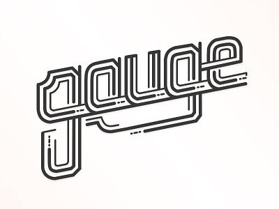 Gauge lettering illustration design