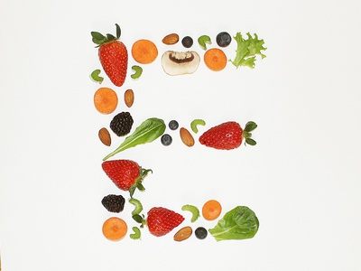Eat for Energy lettering illustration design dropcap