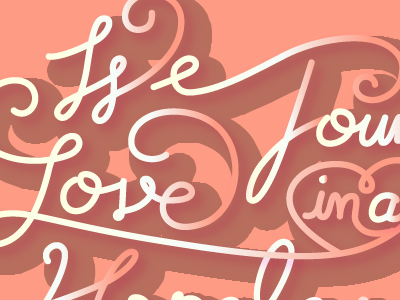 We found love lettering