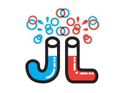 J.L ligature typography fun