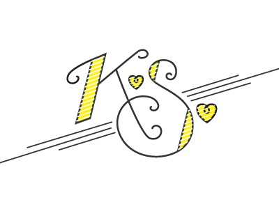 K.S ligature typography fun