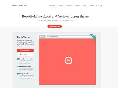 homepage web design layout homepage design themes theme flat red ui club wordpress