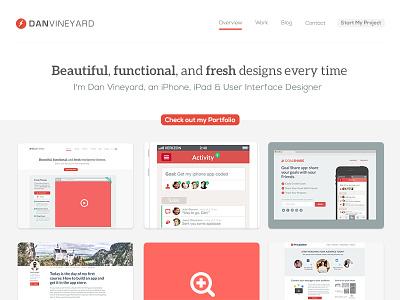 Homepage Design for my portfolio portfolio design homepage clean minimal flat