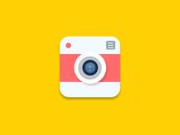 Flat Camera Icon - free PSD!