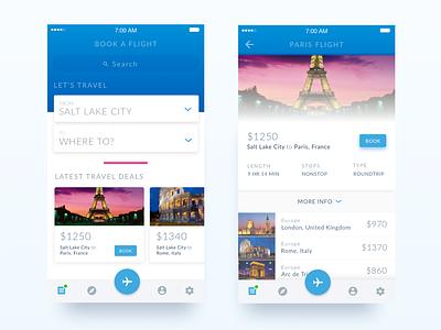Travel Mobile App android trip app trip flight app flight modern minimal blue ios travel mobile app mobile