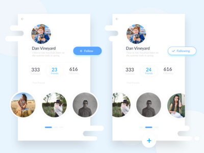 Profile UI and Friend Finder  minimal clean mobile app design ux ui friends profile inspiration