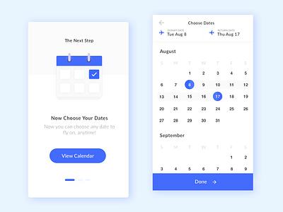 Mobile Calendar UI ux ui onboarding mobile minimal design clean calendar app design