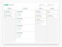 Product Roadmap productivity enterprise sass app minimal clean ux process product kuali roadmap